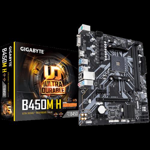 GIGABYTE B450M-H DDR4 D-SUB HDMI USB3,1 AM4