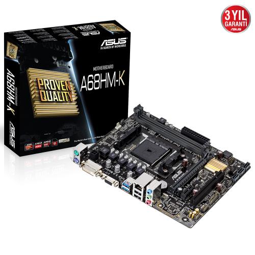 ASUS A68HM-K S/L/V DDR3 D-SUB DVI 1xPCI (FM2)
