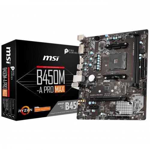MSI B450M-A PRO MAX DDR4 M.2 D-SUB HDMI  USB3,2 AM4
