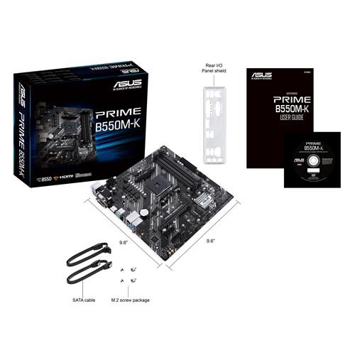ASUS PRIME B550M-K HDMI DVI D-SUB USB3,2 M.2 AM4