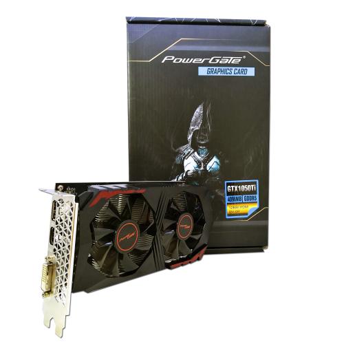 POWERGATE PG-GTX1050TI-D5-4GB DDR5 HDMI, DVI, DP Dual Fan, Ekran Kartı