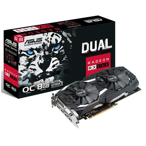 ASUS DUAL RX580-O8G 8Gb DDR5 256Bit VGA (Sınırlı Stok)