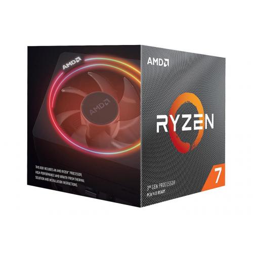 AMD RYZEN 7 3700X 8 Core, 3,60-4.40GHz 32Mb Cache, 65W, RGB LED Wraith Prism FAN, AM4, (Kutulu)